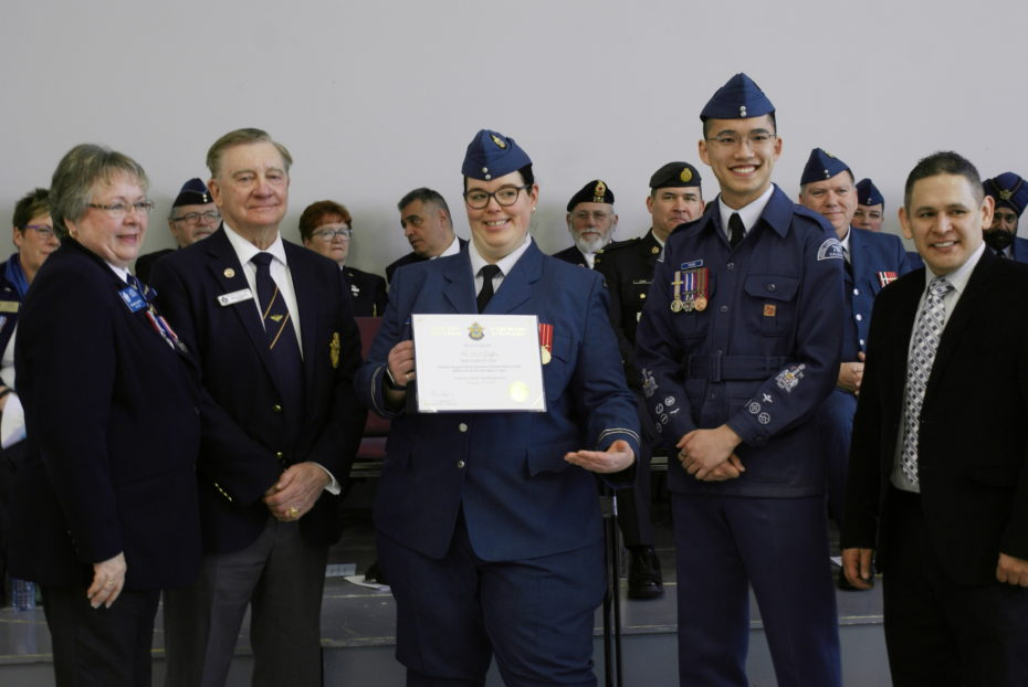 LOCAL ROYAL CANADIAN AIR CADET SQUADRON CELEBRATES CHARTER PARADE