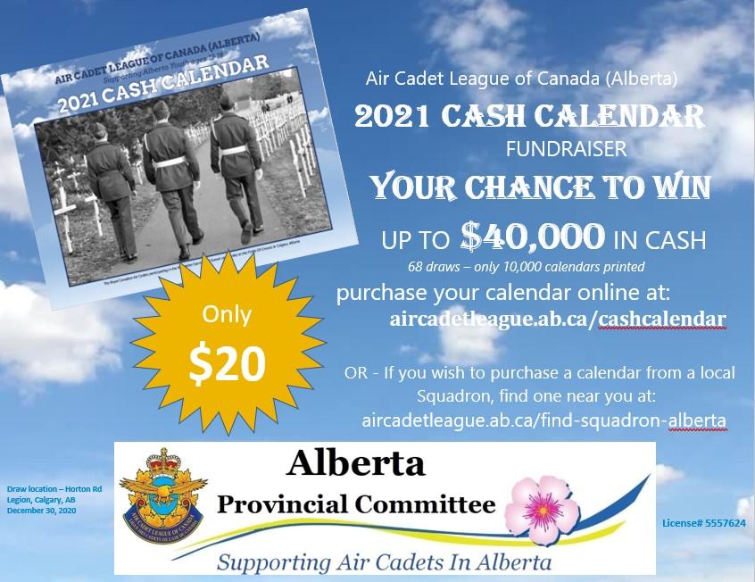 Air Cadet 2021 Cash Calendar poster